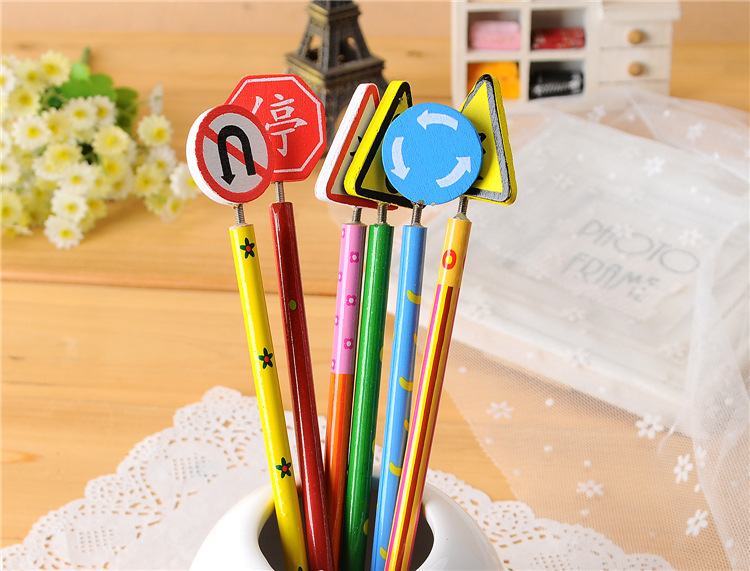 Colorful Pencils Student Stationery Black Pencils Office School Kid