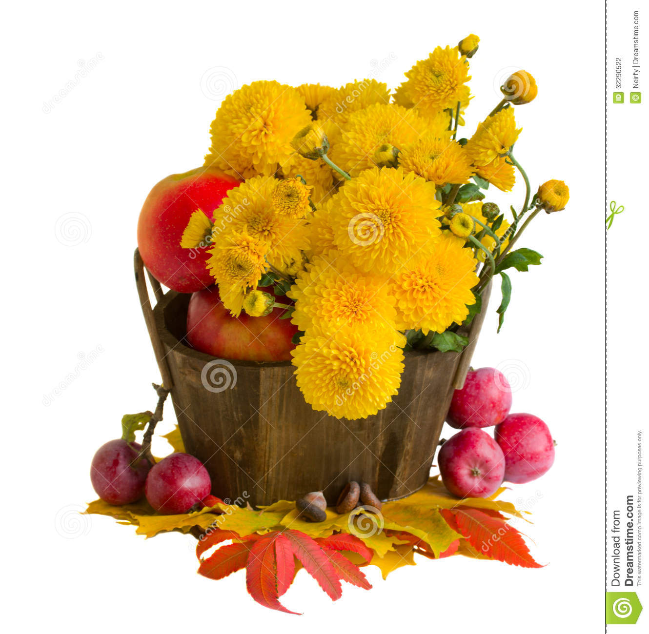 Fall Mums Clip Art Bouquet Of Yellow Mums With