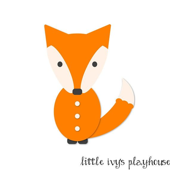 Fox Clip Art  Woodland Animal Graphic Illustration  Instant Download