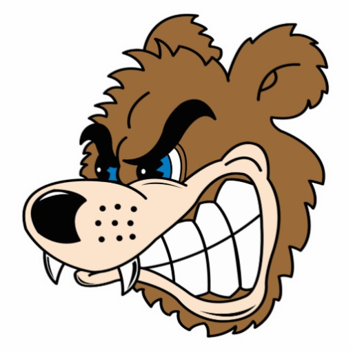 Growling Bear Cartoon Angry Growling Bear Face Photo