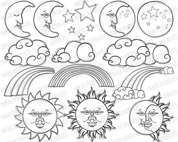 Cute Moon Clipart - Clipart Kid