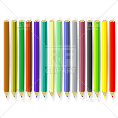 Of Colorful Pencils 94749 Download Royalty Free Vector Clipart  Eps