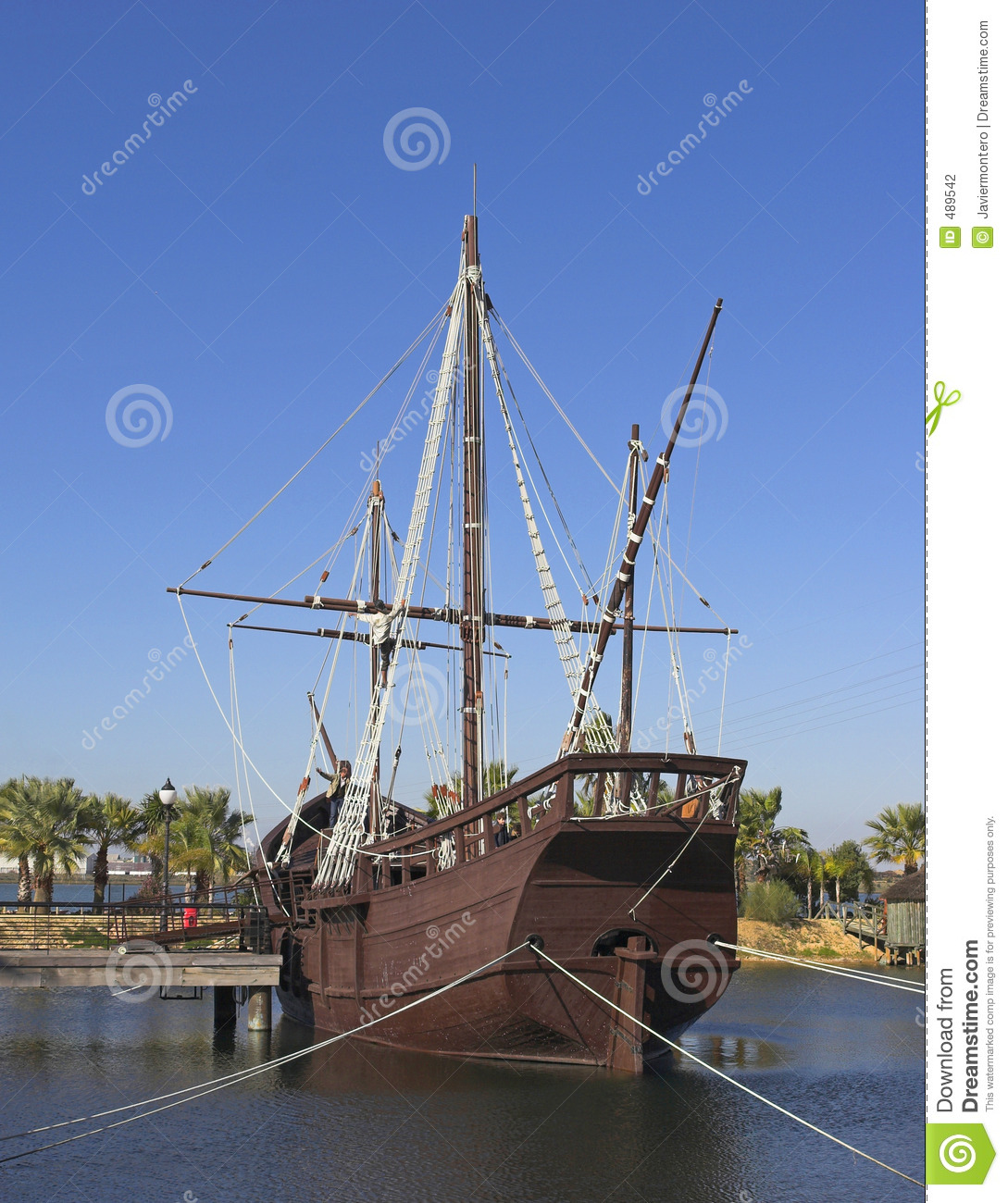 One Of The The Three Ships That Christopher Columbus Goberned To