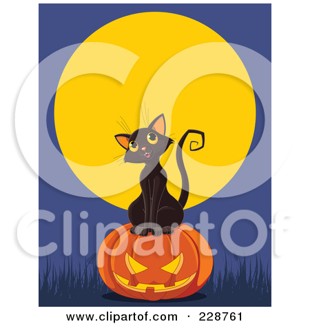 Royalty Free  Rf  Clipart Illustration Of A Cute Black Kitten With A