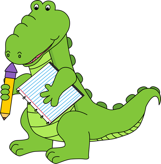 School Alligator Clip Art   School Alligator Image