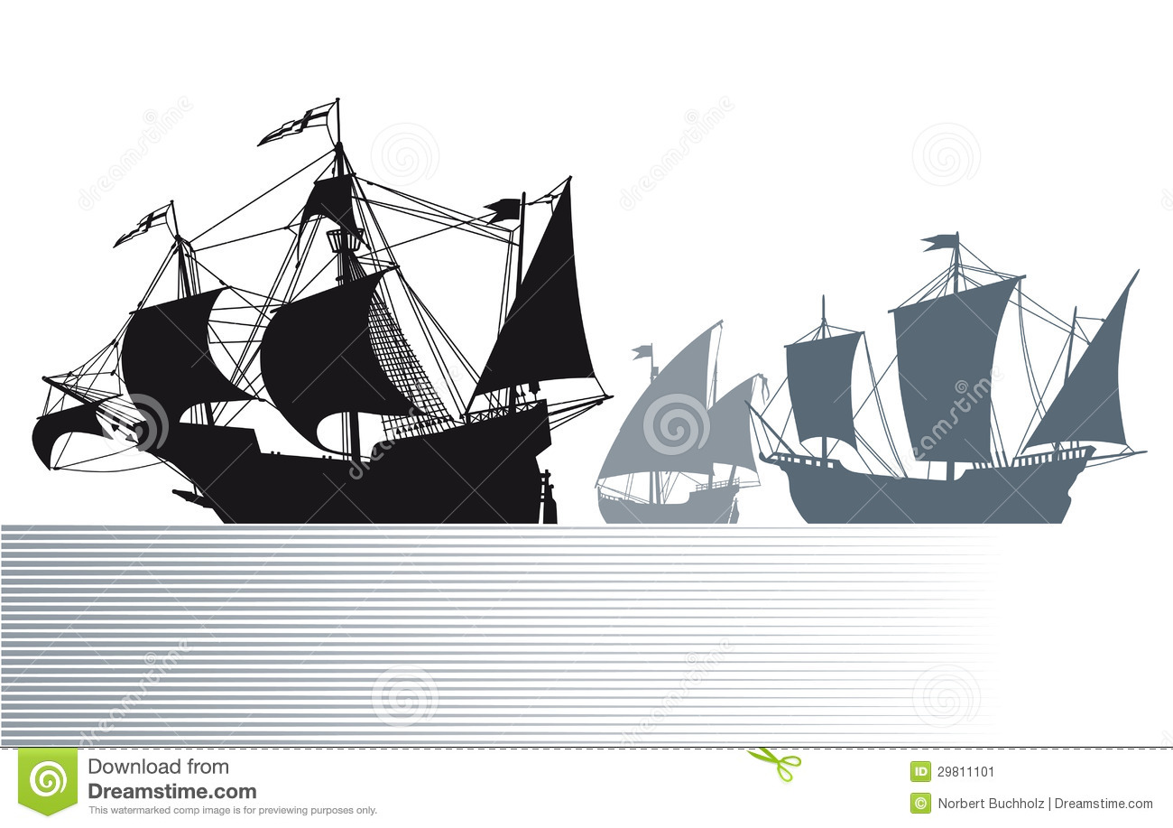 Ships Of Christopher Columbus Stock Image   Image  29811101
