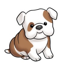 Super Cute Clipart Website More Cute Bulldogs Cartoon Animal Drawings
