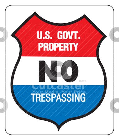 Us Government Property Stock Vector Clipart No Trepassing   Us