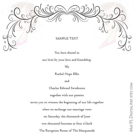 Wedding Invitation Borders Clipart - Clipart Kid