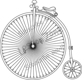 118271z01 Clipart Victorian Bicycle Bw01