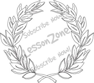 118339z01 Clipart Ancient Greek Olympic Wreath Bw01