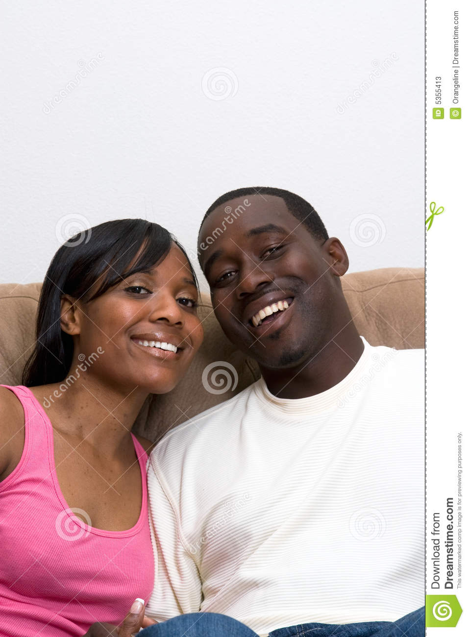 African American Couple Close Up Stock Photos   Image  5355413