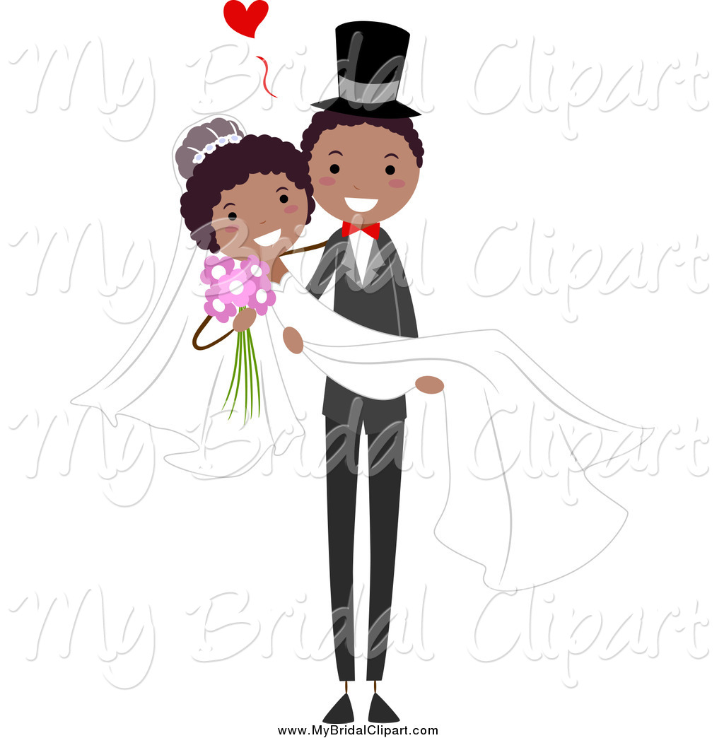African American Wedding Couple Clip Art