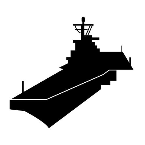 Aircraft Carrier Silhouette Clipart