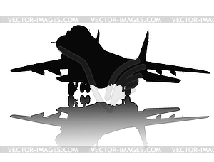Aircraft Silhouette   Vector Clipart