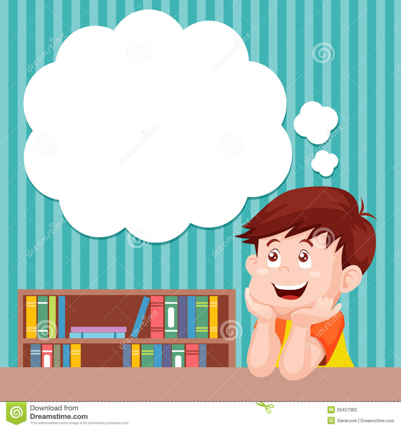 Cartoon Boy Thinking Stock Photography   Image  26457382
