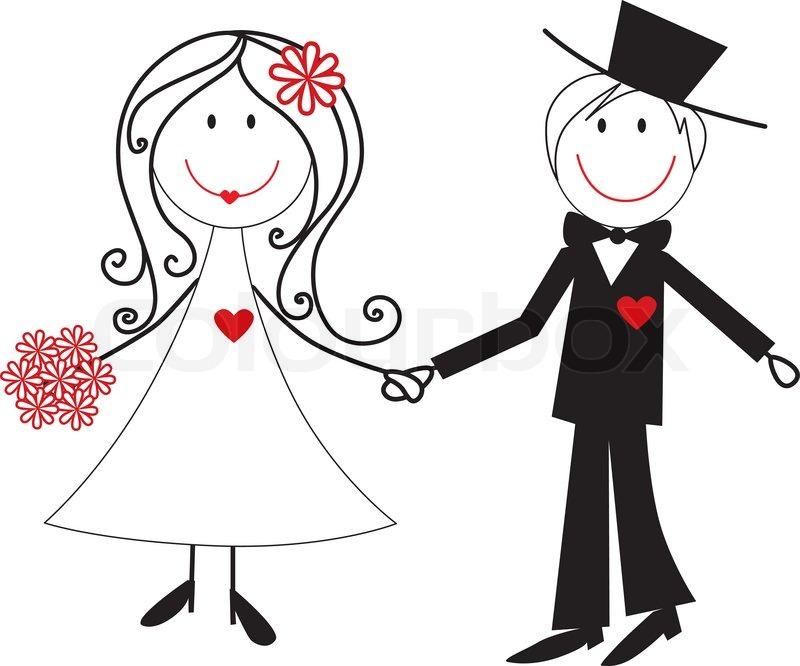 Cartoon Hochzeit Paar Abbildung Stock Vektor Colourbox #OgsSIT ...