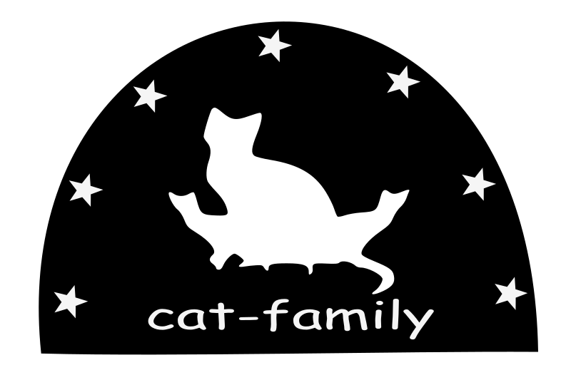 Cat Family Silhouette