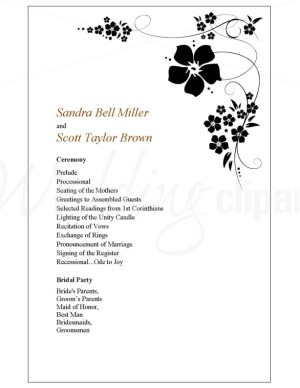 Wedding Program Clipart - Clipart Kid