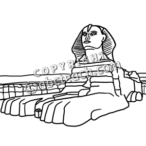 Clip Art  Great Sphinx B W   Preview 1