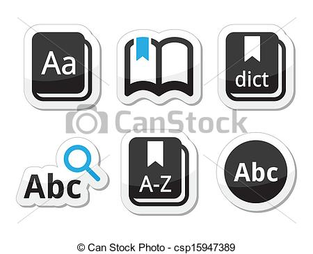 Dictionary And Thesaurus Clipart Thesaurus Dictionary Black