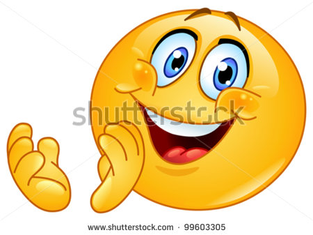 Emoticon Clapping Stock Vector Illustration 99603305   Shutterstock