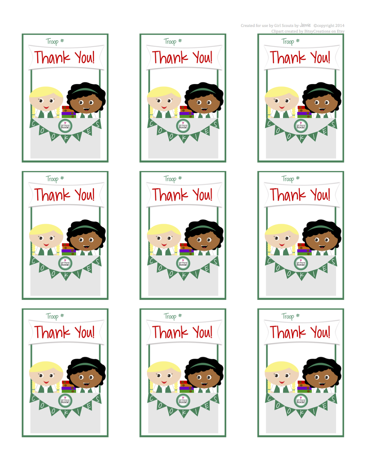 Girl Scout Junior Clipart Here Are Some Free Printable Thank You Cards