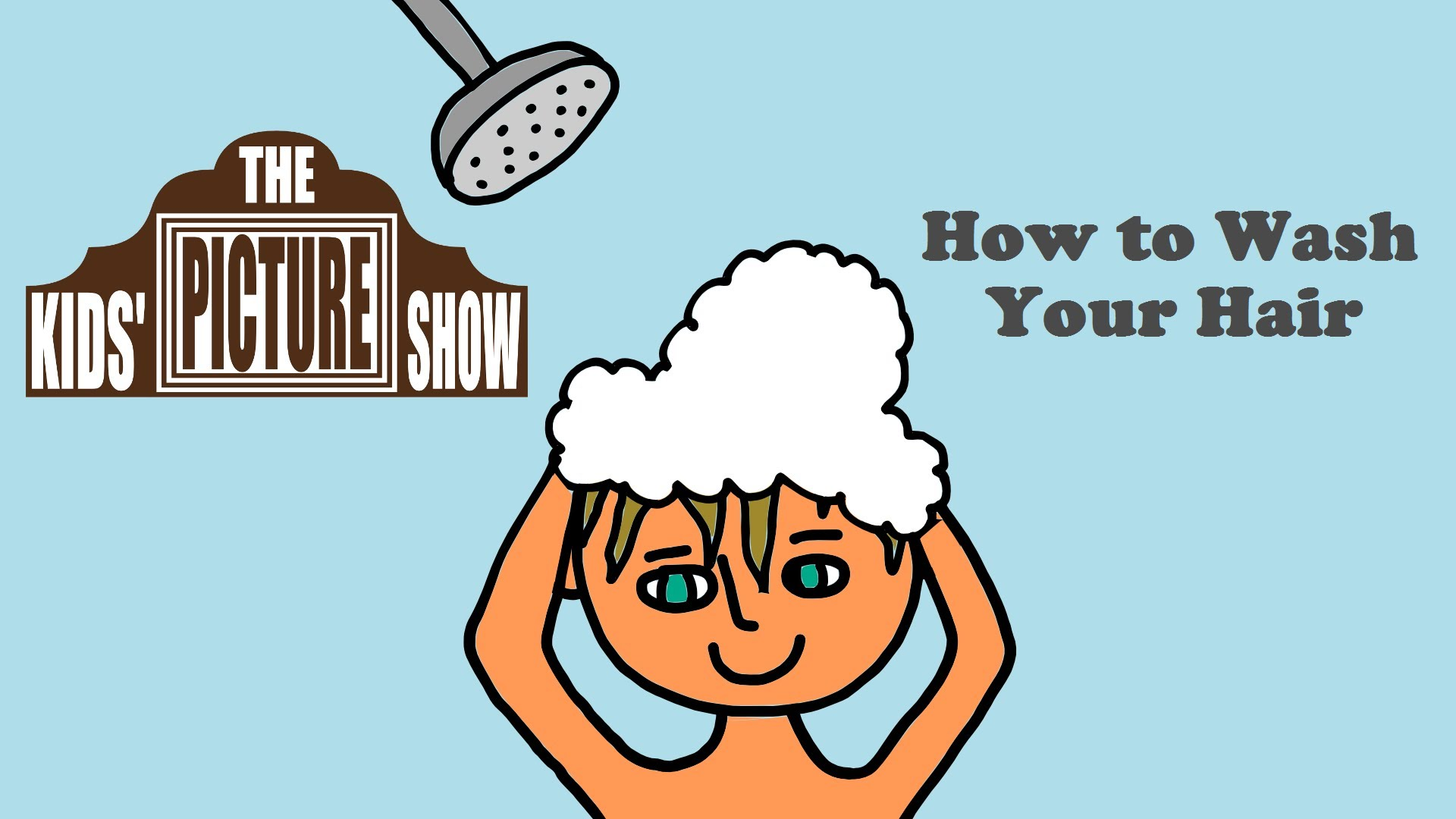 How To Wash Your Hair   The Kids  Picture Show  Fun   Educational