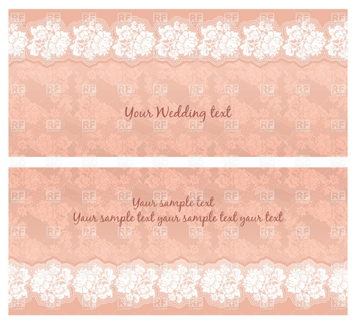 Pink Vintage Wedding Invitation With Floral Lace 18842 Backgrounds
