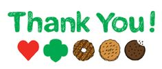 Printable Girl Scout Cookie Thank You Cards   Cookie Information For