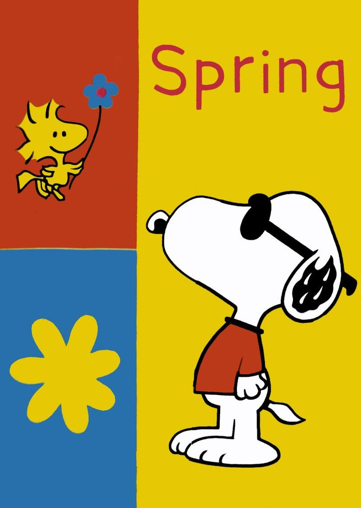 Snoopy and woodstock spring clipart clipart suggest - Free snoopy images ...