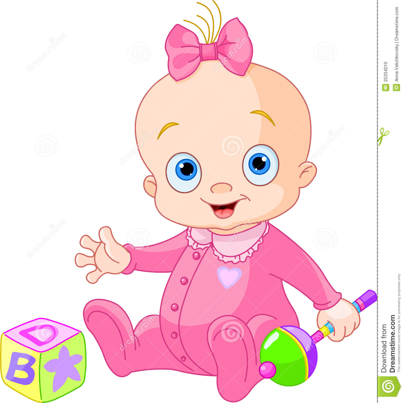 Sweet Baby Girl Stock Photo   Image  25334010
