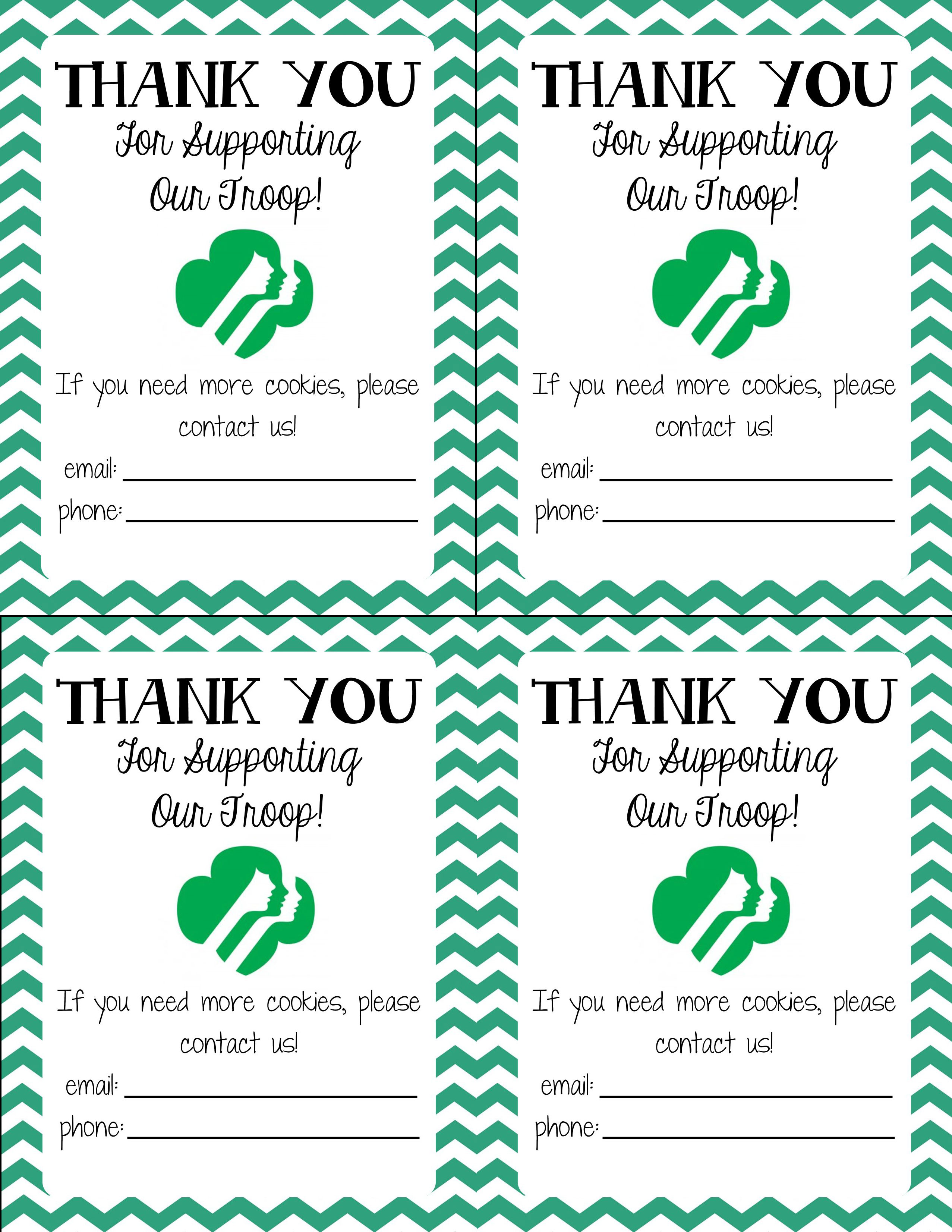 Girl Scout Cookie Thank You Clipart - Clipart Kid