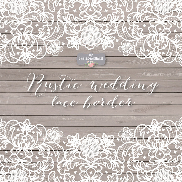 Vector Lace Wedding Border Clipart   Illustrations On Creative Market