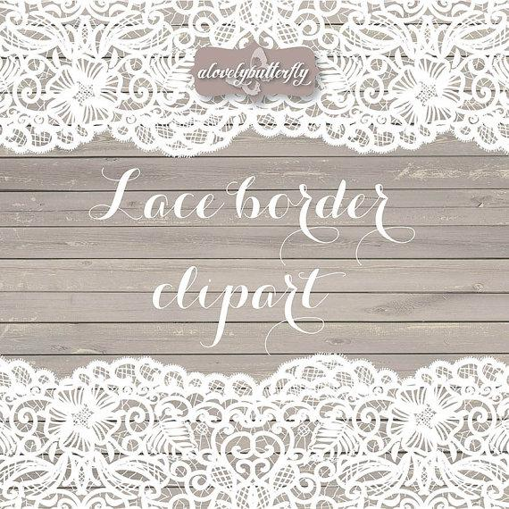 Wedding Clipart Lace Border Rustic Clipart Shabby Chic Wedding Lace
