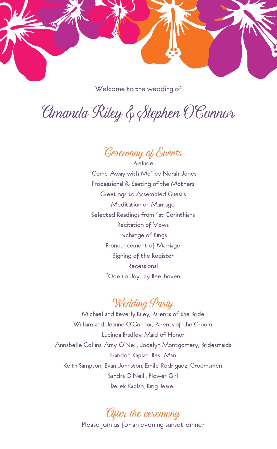 wedding program clipart