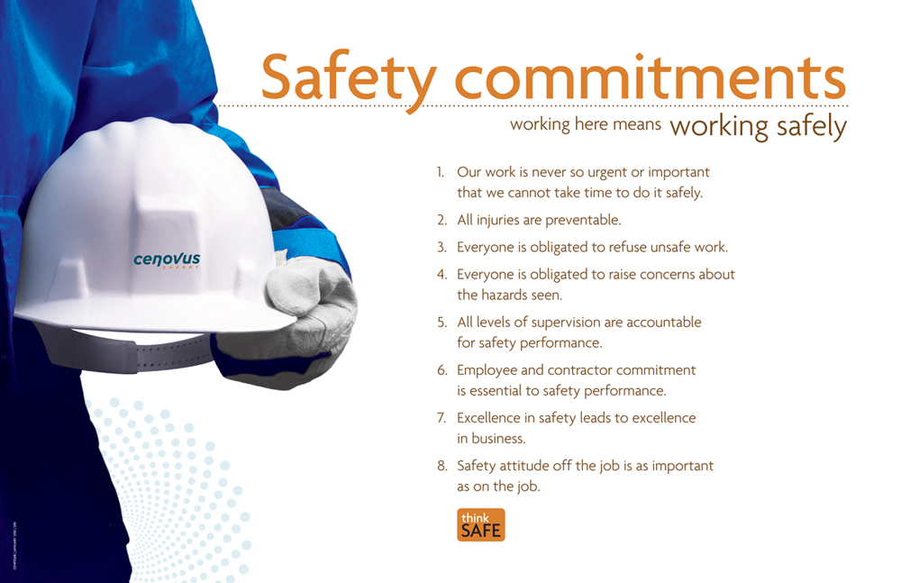 Working Safely At Cenovus Is A Critical Aspect Of The Work We Do
