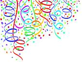 Confetti And Streamers Balloons And Confetti Festive Design Vector