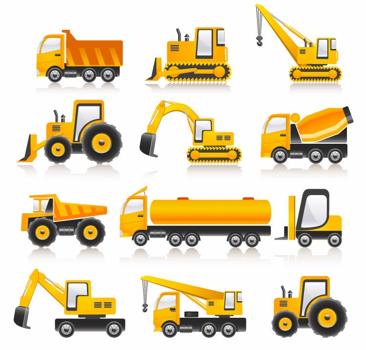 Construction Vehicles Vector Collection   Free Vector Graphics   All