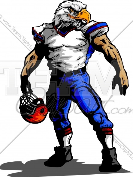 Eagle Football Player In Uniform Vector Clipart Image