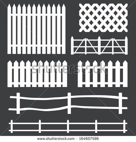 Farm fence clipart clipart suggest - Cercas para jardin ...