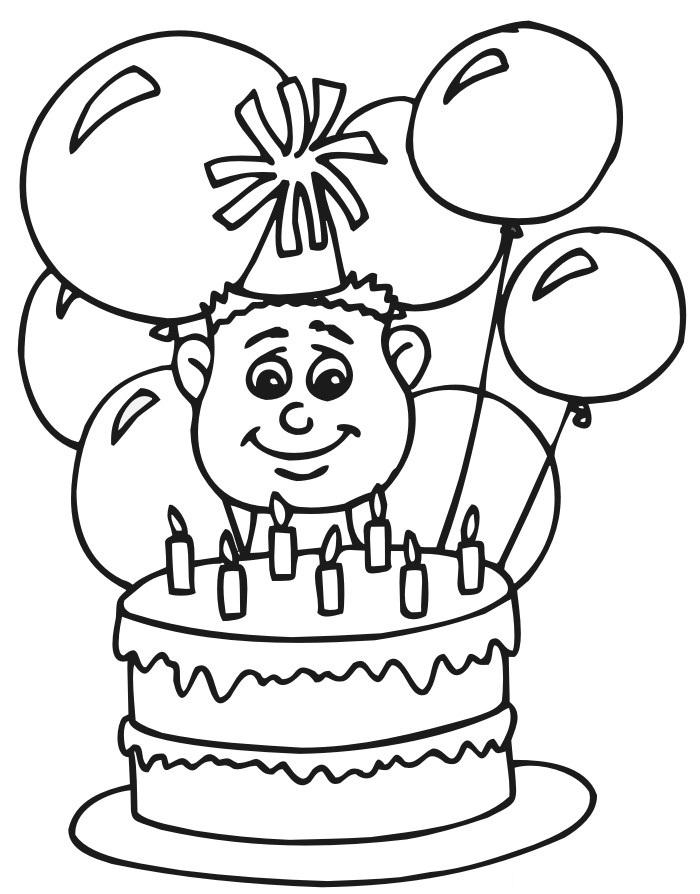 День рождения мальчика раскраска