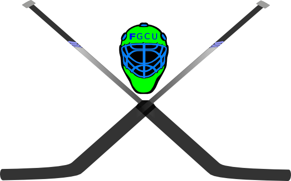 Hockey Mask   Crossed Sticks Clip Art At Clker Com   Vector Clip Art