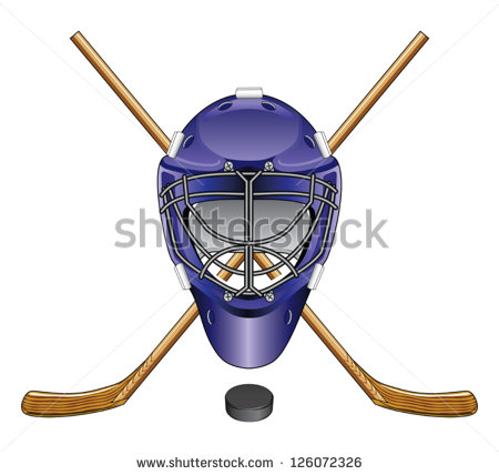 Ice Hockey Goalie Mask Sticks And Puck Is An Illustration Of An Ice