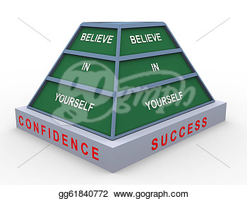 Of Pyramid Of Text Believe In Yourself  Clipart Drawing Gg61840772