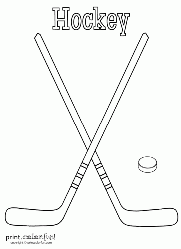Ice Hockey Sticks With Ball Clipart - Clipart Kid