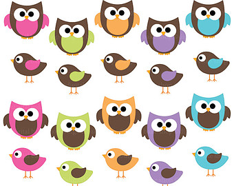 Owls Clipart Digital Clip Art Birds Animals   Hoots And Tweets Digital