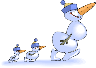 Snowman Family Walking Free Fantasy Clipart   Free Microsoft Clipart