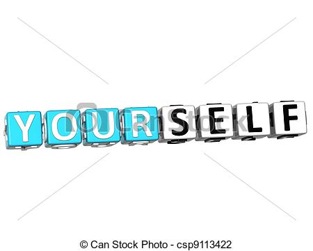 Stock Illustration   3d Believe In Yourself Text