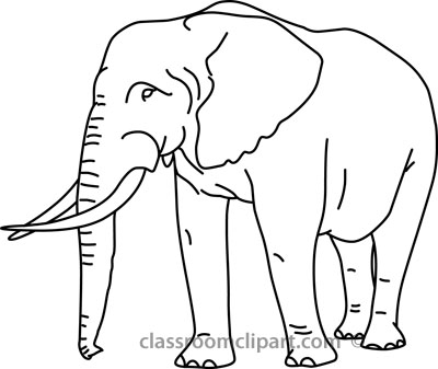 Clip Art Elephant Clipart Black And White elephant black and white clipart kid animals outline 01 22812 classroom clipart